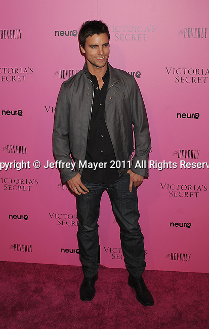 "LOS ANGELES, CA - MAY 12: Colin Egglesfield arrives to the Victoria's Secret 6th Annual ""What Is Sexy? List: Bombshell Summer Edition"" Pink Carpet Event at The Beverly on May 12, 2011 in Los Angeles, California."
