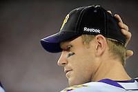 Dec 6, 2009; Glendale, AZ, USA; Minnesota Vikings quarterback (2) Sage Rosenfels against the Arizona Cardinals at University of Phoenix Stadium. The Cardinals defeated the Vikings 30-17. Mandatory Credit: Mark J. Rebilas-