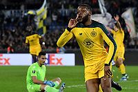 7th November 2019, Rome, Italy; UEFA Europa League football , group stages, Lazio versus Glasgow Celtic; Olivier Ntcham of Celtic celebrates after scoring the winning goal for 1-2 in the 95th minute - Editorial Use