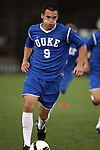 11 October 2009: Duke's Ryan Finley. The Duke University Blue Devils defeated the University of North Carolina Greensboro Spartans 3-0 at Koskinen Stadium in Durham, North Carolina in an NCAA Division I Men's college soccer game.