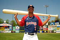 Portland Sea Dogs shortstop Xander Bogaerts #7 poses for a photo prior to a game versus the Altoona Curve at Hadlock Field in Portland, Maine on June 2, 2013. (Ken Babbitt/Four Seam Images)