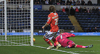 Craig Mackail-Smith watches his effort just go wide of the goal during the Sky Bet League 2 match between Wycombe Wanderers and Luton Town at Adams Park, High Wycombe, England on 6 February 2016. Photo by Liam Smith.