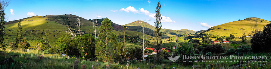 View from the graveyard in Pilgrim's Rest, an old Gold mining town in South Africa declared a national monument.