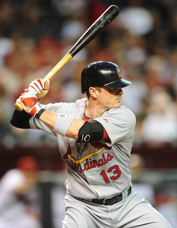 Apr. 19, 2010; Phoenix, AZ, USA; St. Louis Cardinals shortstop Brendan Ryan against the Arizona Diamondbacks at Chase Field. The Cardinals defeated the Diamondbacks 4-2. Mandatory Credit: Mark J. Rebilas-