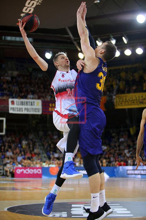 League ACB-ENDESA 201/2019.Game 38.<br /> PlayOff Semifinals.1st match.<br /> FC Barcelona Lassa vs Tecnyconta Zaragoza: 101-59.<br /> Seibutis vs Victor Claver.