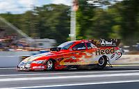 Jun 9, 2017; Englishtown , NJ, USA; NHRA funny car driver Jonnie Lindberg during qualifying for the Summernationals at Old Bridge Township Raceway Park. Mandatory Credit: Mark J. Rebilas-USA TODAY Sports