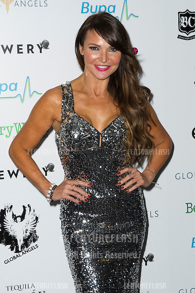 Lizzy Cundy arriving for The Global Angels Awards 2012, The Brewery, London. 09/11/2012 Picture by: Simon Burchell / Featureflash