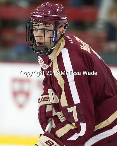 Isaac MacLeod (BC - 7) - The visiting Boston College Eagles defeated the Harvard University Crimson 5-1 on Wednesday, November 20, 2013, at Bright-Landry Hockey Center in Cambridge, Massachusetts.