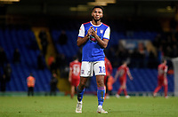 Ipswich Town's Grant Ward applauds the fans at the final whistle <br /> <br /> Photographer Hannah Fountain/CameraSport<br /> <br /> The EFL Sky Bet Championship - Ipswich Town v Middlesbrough - Tuesday 2nd October 2018 - Portman Road - Ipswich<br /> <br /> World Copyright &copy; 2018 CameraSport. All rights reserved. 43 Linden Ave. Countesthorpe. Leicester. England. LE8 5PG - Tel: +44 (0) 116 277 4147 - admin@camerasport.com - www.camerasport.com