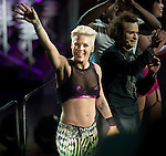 P!nk playing Boston Garden 2014. Stunning Show!