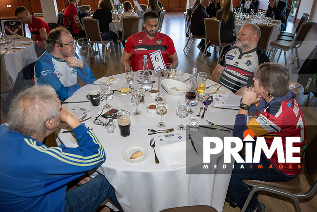 Hospitality ahead of the Betfred Super League match between London Broncos and Wakefield Trinity at Castle Bar , West Ealing , England on 3 February 2019. Photo by David Horn.