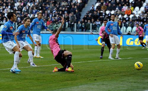 18.12.2011. Turin, Italy.   Simone Pepe Juventus Goal Celebration Torino  Series A 2011 2012 Juventus  vs Novara
