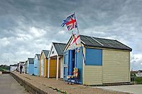 Beach huts at Chapel Point, Chapel St Leonards, Lincolnshire.