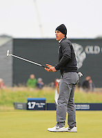 Tjornborn Olesen (DEN) on the 16th green during the 2015 Alfred Dunhill Links Championship at the Old Course in St. Andrews in Scotland on 4/10/15.<br />