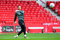 Erwin Mulder of Swansea City during the pre-match warm-up for the Sky Bet Championship match between Nottingham Forest and Swansea City at the City Ground Stadium in Nottingham, England, UK. Wednesday 15 July 2020