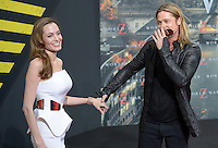Berlin, Dienstag (04.06.13), Die Schauspieler Angelina Jolie und Brad Pitt bei der Deutschlandpremiere des Films World War Z.<br /> Foto: Michael Gottschalk/CommonLens