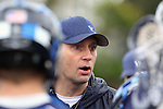 Los Angeles, CA 02/18/11 - BYU coach addresses adjustments at half time in their game at LMU.