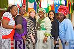 Pictured at Africa day in Presentation Primary, Tralee on Saturday were l-r: Bimbe Obajina, Carolyn Okoro, Gillian Wharton Slattery (chairperson of Tralee International Resource Centr) Risikag Kareem, Richa Ubajhyay and Kemi Salade.