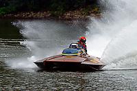 Bob Hampton, GP-182, Xanadu, (1982 Grand Prix class pickle-fork Lauterbach hydroplane)