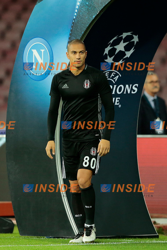 Gokhan Inler Besiktas, <br /> Napoli 19-10-2016 Napoli - Besiktas<br /> Football Calcio UEFA Champions League 2016/2017 Group B. Napoli - Besiktas<br /> Foto Cesare Purini / Insidefoto