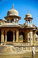 Gaitor (cenotaphs, memorials to Royal Family of Jaipur), Jaipur, Rajasthan, India