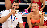 Sarah Sjostrom SWE Sweden<br /> James Gibson GBR Energy Standard Coach<br /> day 02  09-08-2017<br /> Energy For Swim<br /> Rome  08 -09  August 2017<br /> Stadio del Nuoto - Foro Italico<br /> Photo