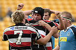 Blair Feeney receives congratulations from fellow team mates. Air NZ Cup week 4 game between the Counties Manukau Steelers and Northland played at Mt Smart Stadium on the 19th of August 2006. Northland won 21 - 17.