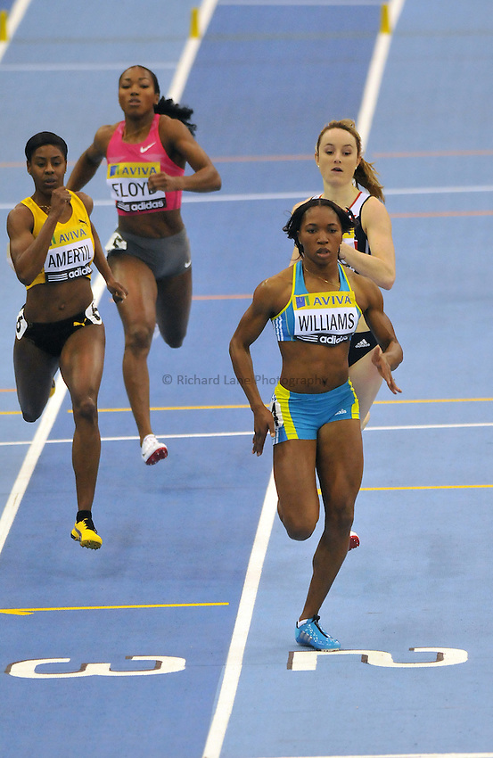 Photo: Tony Oudot/Richard Lane Photography. Aviva Grand Prix. 20/02/2010. .Noviene Williams of Jamaica in the Womens 400m.