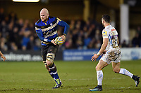 Matt Garvey of Bath Rugby in possession. Aviva Premiership match, between Bath Rugby and Exeter Chiefs on March 23, 2018 at the Recreation Ground in Bath, England. Photo by: Patrick Khachfe / Onside Images