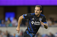 San Jose, CA - Saturday August 05, 2017: Marco Ureña during a Major League Soccer (MLS) match between the San Jose Earthquakes and the Columbus Crew at Avaya Stadium.