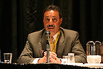 "17 January 2004: WUSA Commissioner Tony DiCicco during a panel discussion titled ""Can Women's Professional Soccer Survive in America"" at the Charlotte Convention Center in Charlotte, NC as part of the annual National Soccer Coaches Association of America convention.."