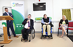 Liam Saunders IWA Area Manager, Michael Hickey Chairman,  IWA Service Coordinator Terry OÕBrien  and  IWA CEO Rosemary Keogh  at the opening of the Irish Wheelchair Association new Community Centre at The Reeks Gateway, Killarney on Friday.  Picture: macmonagle.com