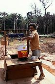 Juruena, Brazil. Settler getting water from a new well.