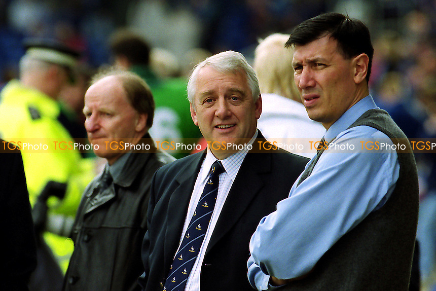 Wycombe Chairman, Ivor Beeks, chats with Manager, Lawrie Sanchez, pre-match during Leicester City vs Wycombe Wanderers, FA Cup Football at Filbert Street on 10th March 2001