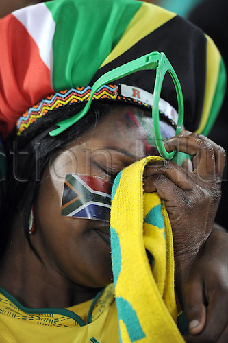 22 06 2010  South African supporters grieve after team eliminated, Group A, 2010 World Cup match between France and South Africa in Bloemfontein, South Africa.