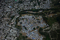 Port Au Prince, Haiti, Jan 19 2010.One of many makeshift IDP camps near Port au Prince..