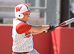 MADISON, WI - APRIL 16: Ricci Robben #7 of the Wisconsin Badgers softball team hits the ball against the Indiana Hoosiers at Goodman Diamond on April 16, 2007 in Madison, Wisconsin. (Photo by David Stluka)