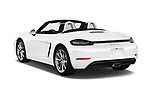 Car pictures of rear three quarter view of a 2017 Porsche 718 Boxster 2 Door Convertible angular rear