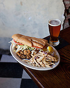 Fried Oyster Po Boy at Battistella's at the City Market in Raleigh, N.C., Saturday, Nov. 5, 2011. The New Orleans-inspired restaurant is the creation of Brian Battistella, a chef who moved away from the Crescent City after Katrina destroyed his home...Photo by D.L. Anderson.