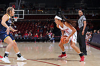 November 4, 2017 -- Stanford, CA:  Stanford Women's Basketball vs UC San Diego in an exhibition game at Maples Pavilion.   Stanford won 60-46.