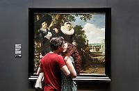 Nederland Amsterdam  2016 03 13.  Het Rijksmuseum. Een schilderij van Frans Hals in de eregalerij.  Foto Berlinda van Dam / Hollandse Hoogte