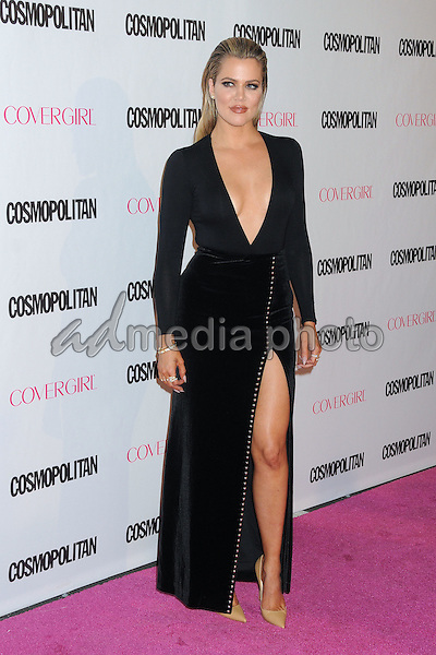 12 October 2015 - Hollywood, California - Khloe Kardashian. Cosmopolitan 50th Birthday Celebration held at Ysabel. Photo Credit: Byron Purvis/AdMedia