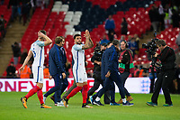 England's Kyle Walker applauds the fans at the final whistle <br /> <br /> Photographer Craig Mercer/CameraSport<br /> <br /> FIFA World Cup Qualifying - European Region - Group F - England v Solvenia - Thursday 5th October 2017 - Wembley Stadium - London<br /> <br /> World Copyright &copy; 2017 CameraSport. All rights reserved. 43 Linden Ave. Countesthorpe. Leicester. England. LE8 5PG - Tel: +44 (0) 116 277 4147 - admin@camerasport.com - www.camerasport.com