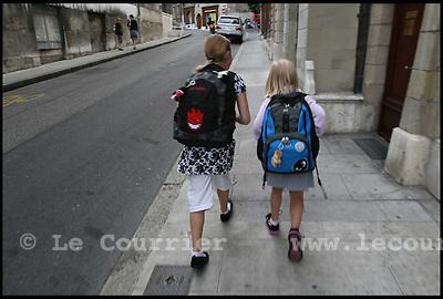 Genève, le  27.08.2007.RENTREE SCOLAIRE A GENEVE.© J.-P. Di Silvestro / Le Courrier.