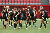 June 15, 2015:  The USA team at an official practise session prior to a Group D match at the FIFA Women's World Cup Canada 2015 between Nigeria and the USA at BC Place Stadium on 16 June 2015 in Vancouver, Canada. Sydney Low/Asteriskimages.com