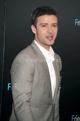 """Justin Timberlake at the New york Premiere of """"Friends With Benefits"""" held at the Ziegfeld Theater on July 18, 2011. Credit: Dennis Van Tine/MediaPunch"""