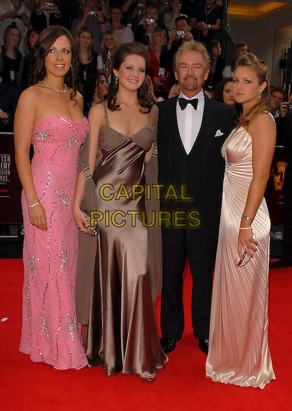 CHARLOTTE, NOEL EDMONDS, LORNA & OLIVIA.Arrivals at the Pioneer British Academy Television Awards 2006 at the Grosvenor House Hotel, London, UK..May 7th, 2006 .Ref: CAN.BAFTA TV.full length black tuxedo father daugters family siblings pink brown biege dress.www.capitalpictures.com.sales@capitalpictures.com.©Capital Pictures