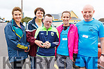 Attending the 5k run in Causeway for Downs Syndrome on Sunday. L-r, Mary O'Halloran (Ballyheigue), Collette and Timmy Casey (Causeway), Linda O'Sullivan (Ardfert), and Declan Sheehan (Causeway).