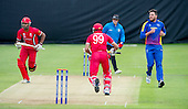 ICC World T20 Qualifier (Warm up match) - Canada V Namibia at Heriots CC, Edinburgh - Canada bat Rizwan Cheema sets off on a run - he went on to make 98 off 35 balls — credit @ICC/Donald MacLeod - 06.7.15 - 07702 319 738 -clanmacleod@btinternet.com - www.donald-macleod.com