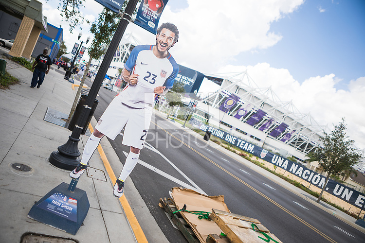 Orlando, FL - Friday Oct. 06, 2017: Player Stand-ups during a 2018 FIFA World Cup Qualifier between the men's national teams of the United States (USA) and Panama (PAN) at Orlando City Stadium.